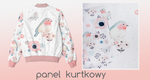 Birds - panel softshell - na kurtki, bluzy