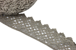 Cotton lace - gray - 53 mm