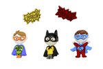 Decorative buttons - Super heroes