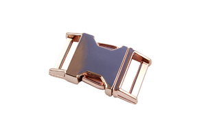 Metal buckle - rose gold - 20 mm