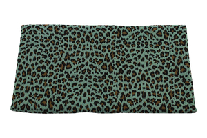 Double Gaze Cotton - panther - dirty mint