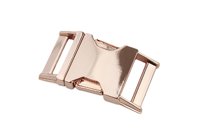 Metal buckle - rose gold - 25 mm