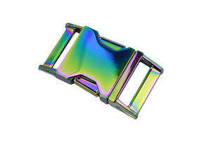Metal buckle - rainbow - 25 mm