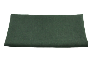 Linen fabric - bottle green