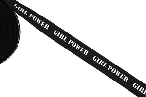 Stripes -  Girl Power - black
