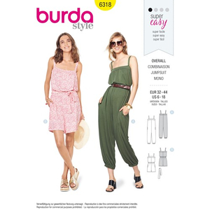 Burda - Pattern for overalls - 6318