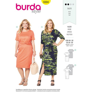 Burda - Pattern for dress - 6304