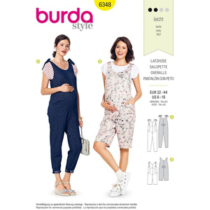 Burda - Pattern for pregnancy dungarees - 6348