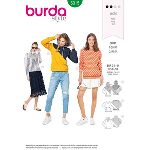 Burda - Pattern for a sweatshirt - 6315