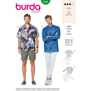 Burda - Pattern for a men's shirt - 6349