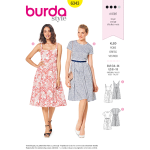 Burda - Pattern for a flared dress - 6343