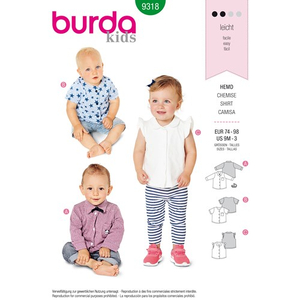 Burda - Pattern for button shirts - 9318