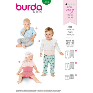 Burda - Pattern for pants - 9317