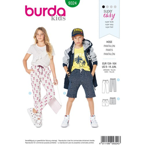 Burda - Pattern for pants with an elastic band - 9324