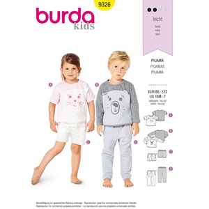 Burda - Pattern for pajamas - 9326