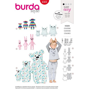 Burda - Pattern for pillows, animals - 6303