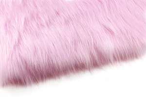 Artificial fur candy pink