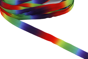 Covered zipper tape - rainbow
