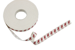 Cotton ribbon 15 mm - reindeers