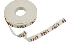 Cotton ribbon 15 mm - Christmas socks