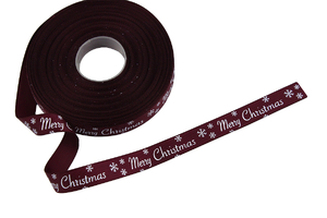 Grosgrain ribbon 15 mm - Merry Christmas