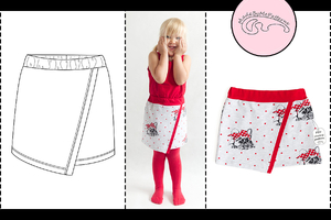 Asymmetric skirt - from 1 to 10 years - PDF Pattern