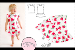 Baby top and baby dress - from 1 to 24 months - PDF Pattern