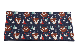 PUL red fox on navy blue