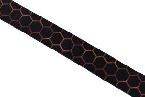 Supporting tape - black hexagons - 30 mm