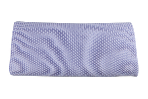 Knitted panel - blanket - baby blue