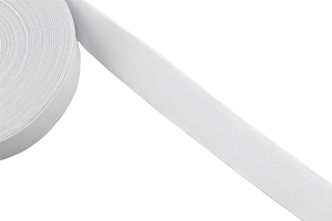 Knitted elastic 30mm white