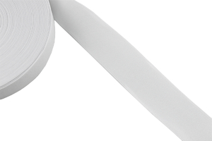 Knitted elastic 50mm white