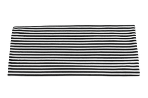 Black and white stripes - medium - viscose