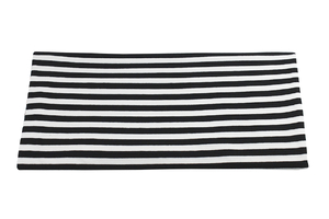 Black and white stripes - wide - viscose