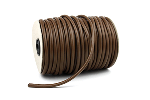 Leather cord 7mm - brown