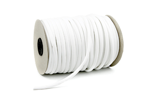Leather cord 7mm - white