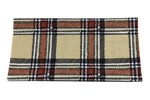Brown-beige grille - cotton fabric