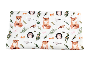 Bamboo fabric - foxes and leaves