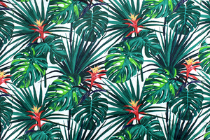 Fabric for picnic mats - guzmania