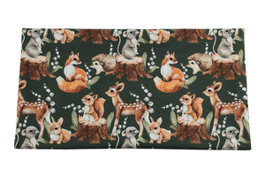 Animals with lily of the valley - cotton fabric