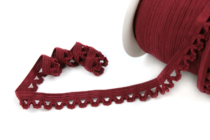 Elastic lace band claret