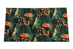 Forest on dark - cotton fabric