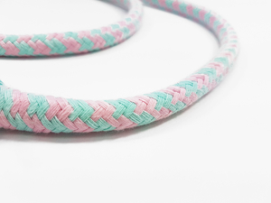 Cotton rope 12 mm - MULTI - mint-pink