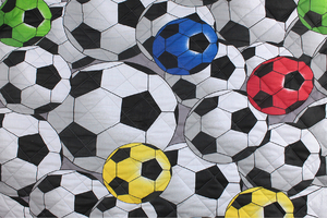 Fabric for picnic mats - football
