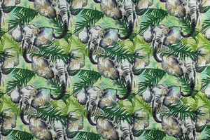 Fabric for picnic mats - elephants