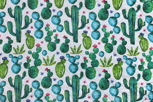 Fabric for picnic mats - cacti