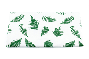 Ferns - white - viscose