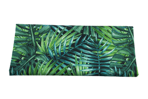 Fabric for swimming shorts - palm trees on dark
