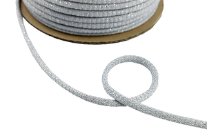 Cotton cord - light silver 8mm