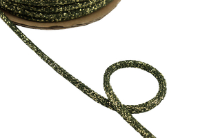 Cotton cord - olive gold 8mm